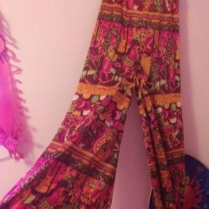 Vintage Llama palazzo bell bottom pants 28\32